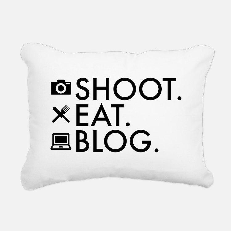 Cute Bloggers Rectangular Canvas Pillow