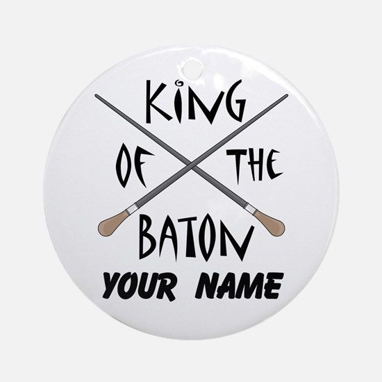 Funny Music Conductor Director Ornament (Round)