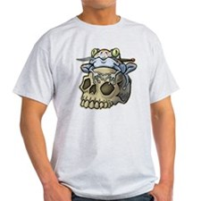 Frog With Knife On Skull T-Shirt