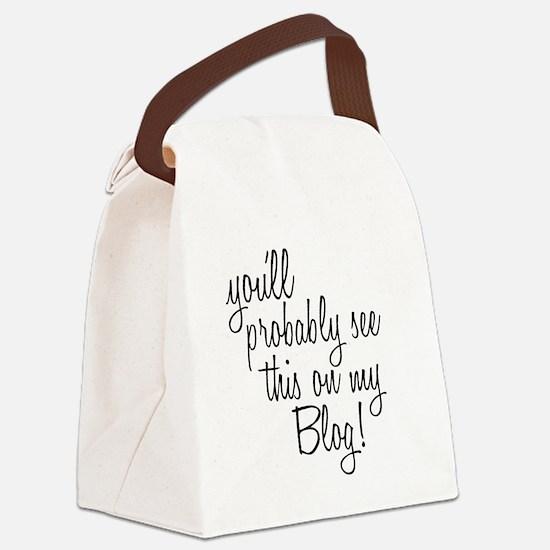 Cute Blog Canvas Lunch Bag