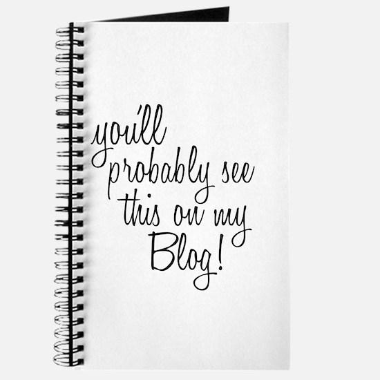Cute Food blog Journal