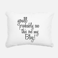 Funny Bloggers Rectangular Canvas Pillow
