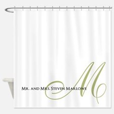 Names and Monogrammed Initial Shower Curtain