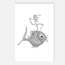 Funny Fish Postcards (package Of 8)