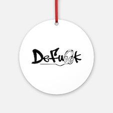 DeFunk Headphone Logo Ornament (Round)