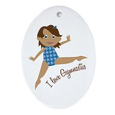 I Love Gymnastics Ornament (Oval)
