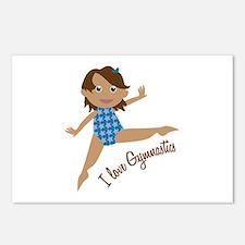 I Love Gymnastics Postcards (Package of 8)