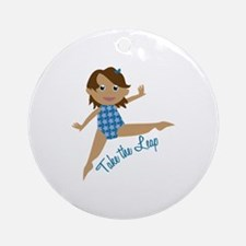 Take The Leap Ornament (Round)