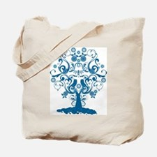 Cute Dragonfly and trees Tote Bag