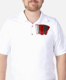 Beautiful Red Accordion Musical Instrument T-Shirt