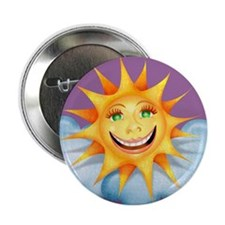 """Mostly Happy"" Sun Button"