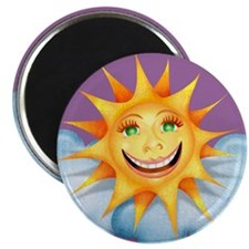 """""""Mostly Happy"""" Sun Magnet"""