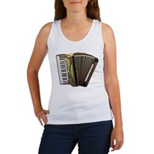 Beautiful Accordion Musical Instrument Tank Top