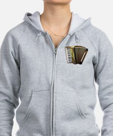 Cute Accordion Zip Hoodie