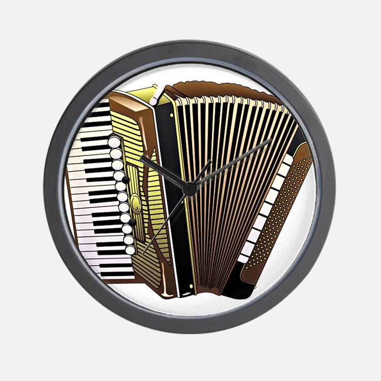 Cute Accordion Wall Clock