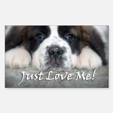 Just love Me! Rectangle Decal