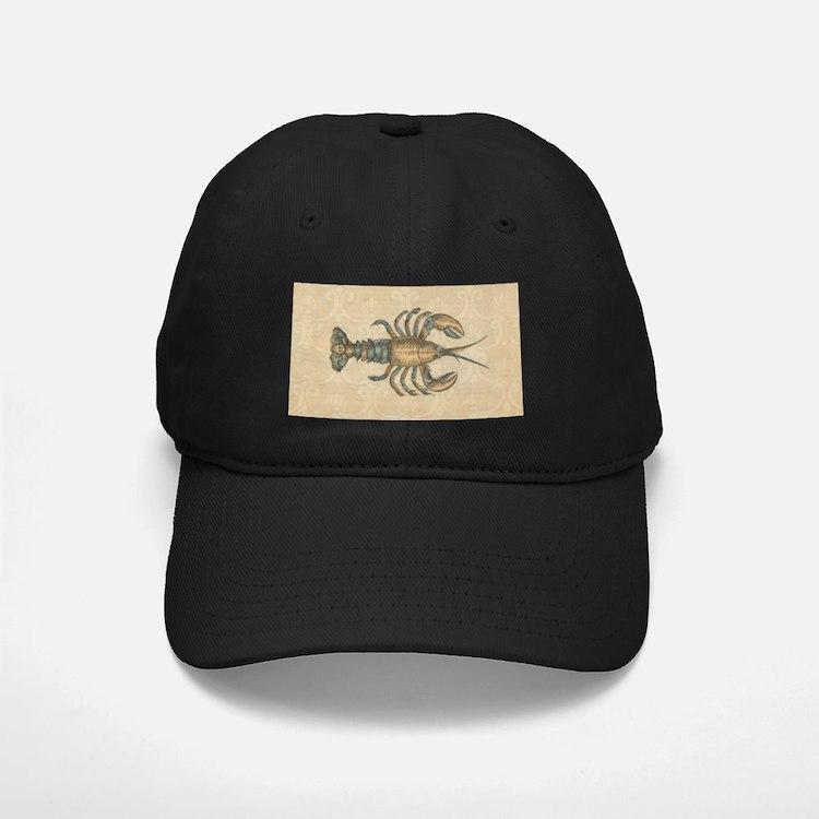 Vintage Maine Lobster scientific illustration Base