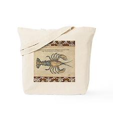 Vintage Maine Lobster scientific illustration Tote