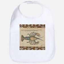 Vintage Maine Lobster scientific illustration Bib