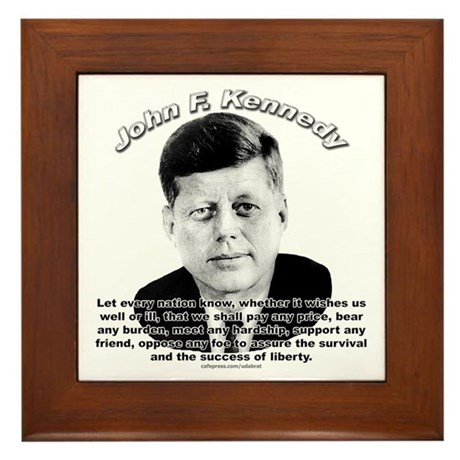 John F. Kennedy 02 Framed Tile