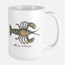Vintage Maine Lobster scientific illustration Mugs