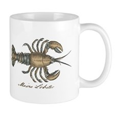 Vintage Maine Lobster scientific illustration Mugs
