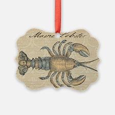 Vintage Maine Lobster scientific illustration Orna