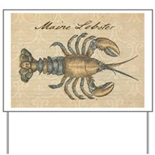 Vintage Maine Lobster scientific illustration Yard