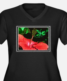 Hibiscus Plus Size T-Shirt