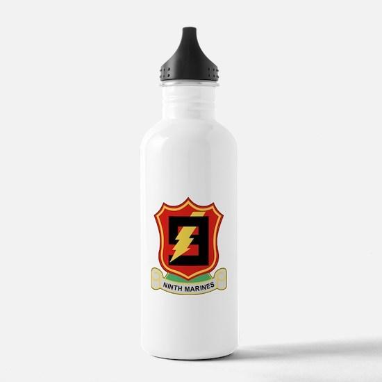 Cute 1st battalion 9th marines Water Bottle