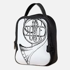 Funny French horn Neoprene Lunch Bag