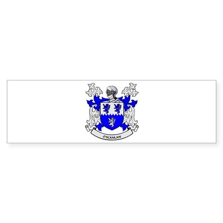 O'SCANLAN 2 Coat of Arms Bumper Sticker