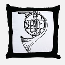 Unique French horn Throw Pillow