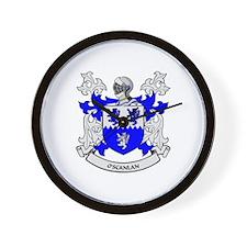 O'SCANLAN 2 Coat of Arms Wall Clock