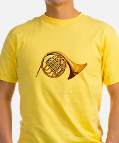 Shiny Brass French Horn T-Shirt
