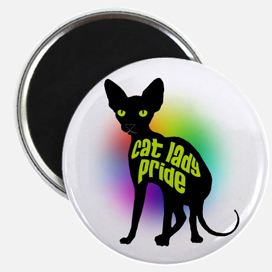 Cat Lady Pride Magnets