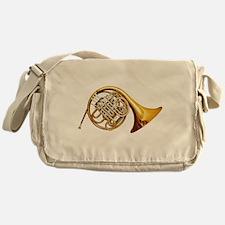 Cute French horn Messenger Bag