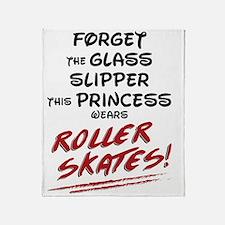Roller Princess Throw Blanket