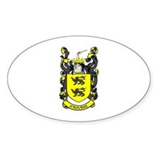 O'ROURKE Coat of Arms Oval Decal