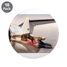 """Funny Women in aviation 3.5"""" Button (10 pack)"""