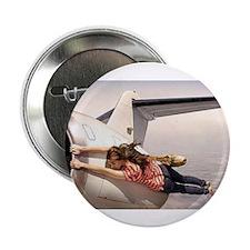 "Cute Women in aviation 2.25"" Button (10 pack)"