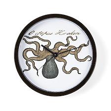 Octopus Kraken vintage scientific illustration Wal