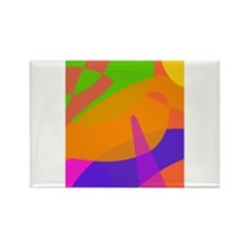 Orange Based Abstract Art Magnets