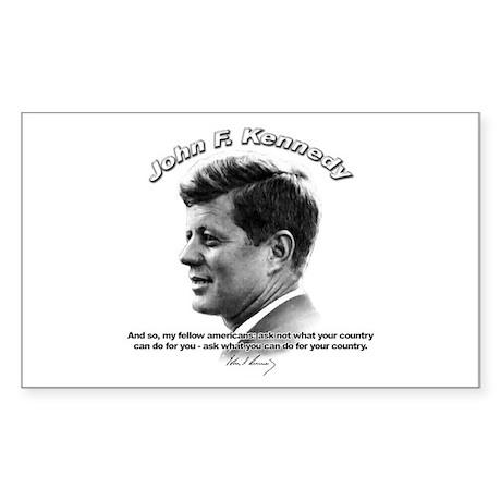 John F. Kennedy 03 Rectangle Sticker