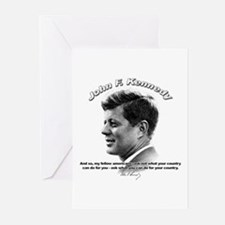 John F. Kennedy 03 Greeting Cards (Pk of 10)