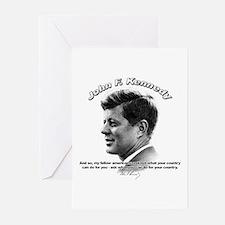 John F. Kennedy 03 Greeting Cards (Pk of 10)