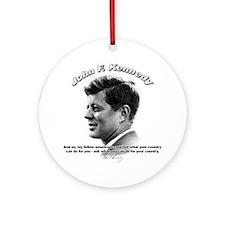 John F. Kennedy 03 Ornament (Round)