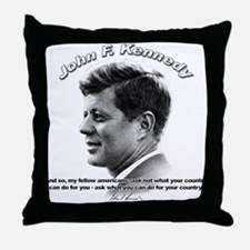 John F. Kennedy 03 Throw Pillow
