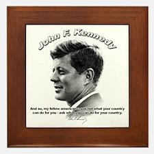 John F. Kennedy 03 Framed Tile