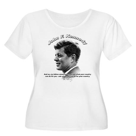 John F. Kennedy 03 Women's Plus Size Scoop Neck T-